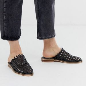 🌻Free people mirage woven slip ons | black shoes